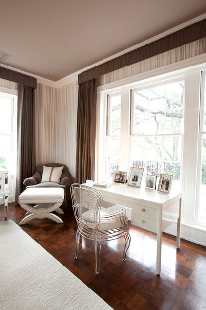 Transitional Bedroom by Laura U, Inc.