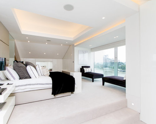 Example Of A Trendy Bedroom Design In London