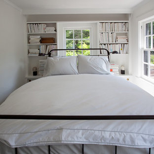 Inspiration for a country bedroom remodel in Philadelphia with white walls