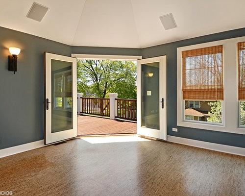 Camera da letto american style con pavimento in sughero - Foto e ...