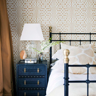 Navy Gold Bedroom Ideas And Photos | Houzz