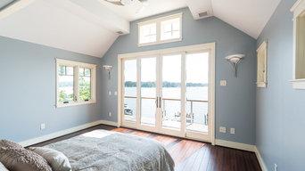 Riverside Waterfont Home: Guest Bedroom Overlooking Waterfront