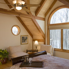 traditional bedroom by Habitat Post & Beam, Inc.