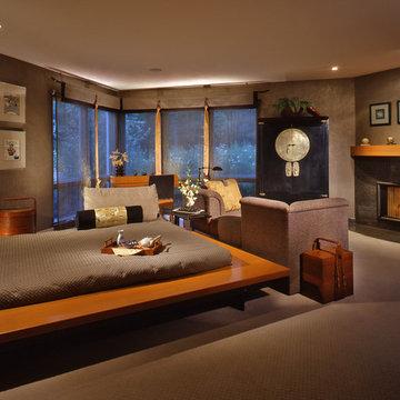 Riverwoods Asian Inspired Master Bedroom