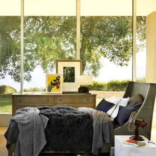 Example of a mid-sized transitional bedroom design in San Francisco