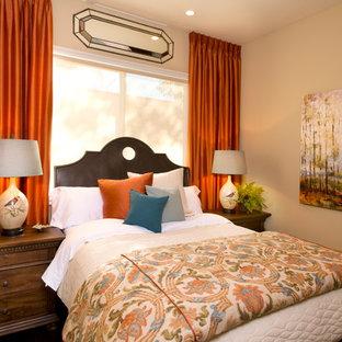 Bedroom - traditional bedroom idea in San Diego with beige walls