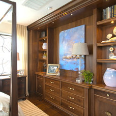 Transitional Bedroom by Robeson Design
