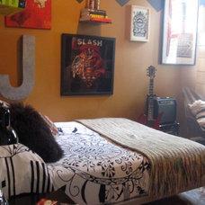 Eclectic Bedroom Rock Room
