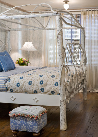 Fancy Eclectic Bedroom by Bob Greenspan Photography