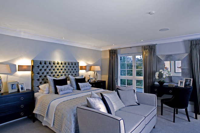Transitional Bedroom by Inspired Dwellings