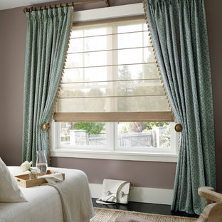 Roman Shades with Pleated Panels