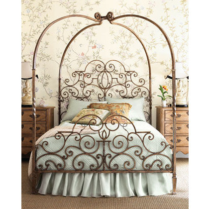 Traditional Bedroom romantic bed