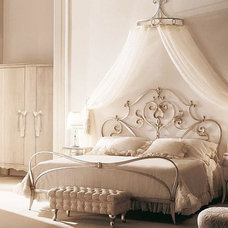 Traditional Bedroom romantic canopy bed