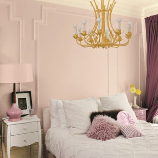 Inspiration For A Victorian Bedroom Remodel In Other With Pink Walls