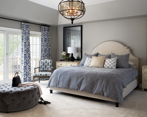 Interior Bedroom Houzz top 30 master bedroom ideas remodeling pictures houzz large transitional carpeted and beige floor idea in dc metro with gray