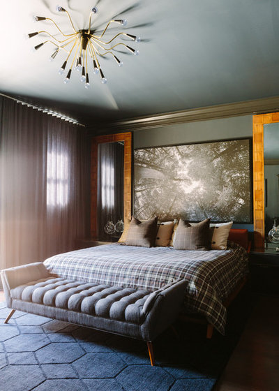 Eclectic Bedroom by Anthony Michael Interior Design, Ltd.