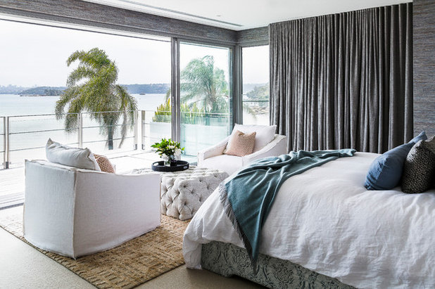 Contemporary Bedroom by Marylou Sobel Interior Design