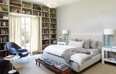 Double-Duty Design: The Library and Guest Room