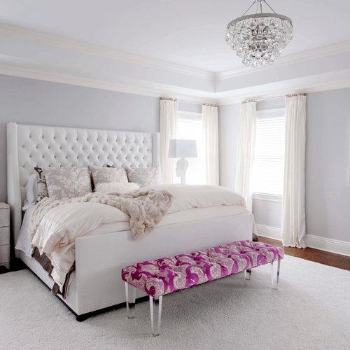 Chandelier Transitional Bedroom Design Ideas: Transitional Bedroom Design Ideas, Remodels & Photos