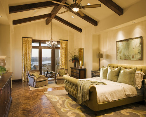 Mediterranean ceiling fans home design ideas photos for Mediterranean master bedroom