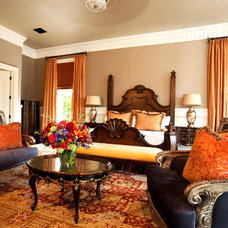 Eclectic Bedroom by Ryan O'Meara Interiors