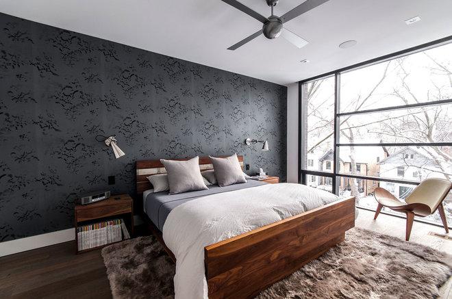 Modern Bedroom by Shirley Meisels