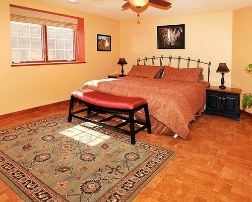 Bedroom design ideas renovations photos with cork for Cork flooring in bedroom