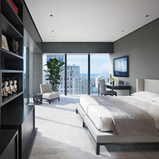Asian Bedroom by Zack|de Vito Architecture + Construction