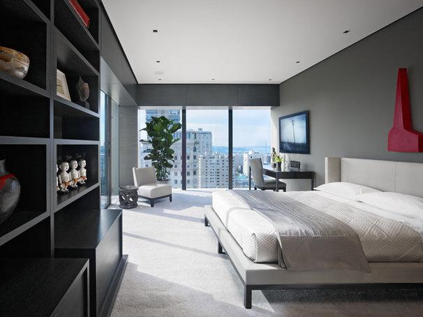 Asian Bedroom by Zack|de Vito Architecture + Construction