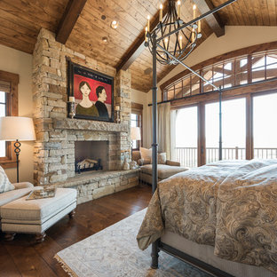 Photo of a country bedroom in Salt Lake City.