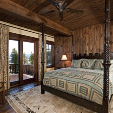 rustic bedroom by Bulhon Design Associates