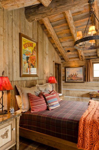 Rustic Bedroom by Pearson Design Group
