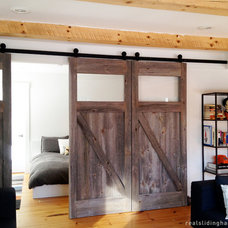 Rustic Bedroom by Real Sliding Hardware