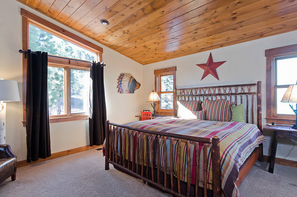 Rustic Bedroom by Tahoe Real Estate Photography