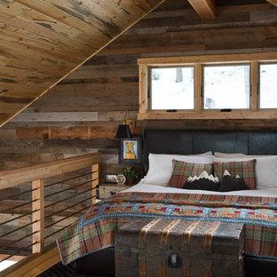 Imagen de dormitorio rural pequeño