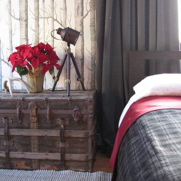 Rustic Chic Masculine Bedroom Design