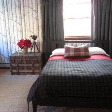 Eclectic Bedroom Rustic Chic Masculine Bedroom Design