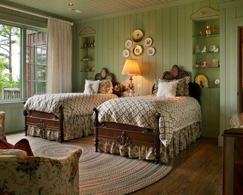 rustic bedroom green walls | 6,950 Bedroom with Green Walls Design Ideas & Remodel ...