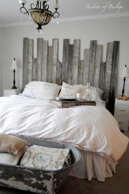Eclectic Bedroom by Buckets of Burlap