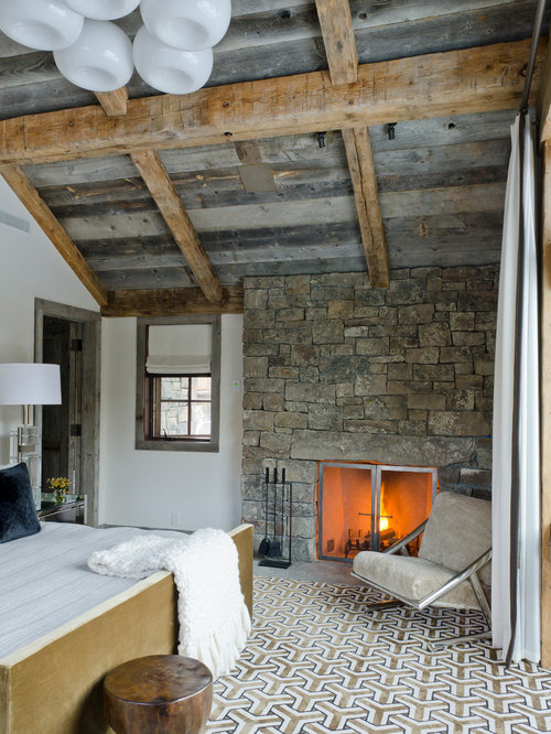 Fireplace Rock moss rock fireplace | houzz