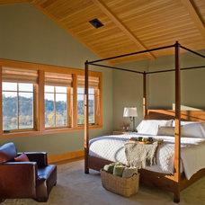 Rustic Bedroom by Peregrine Design Build