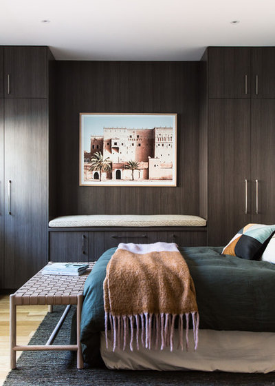 Beach Style Bedroom by The Den Interiors