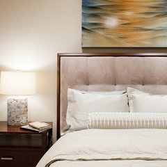 contemporary bedroom by Laura Burton Interiors