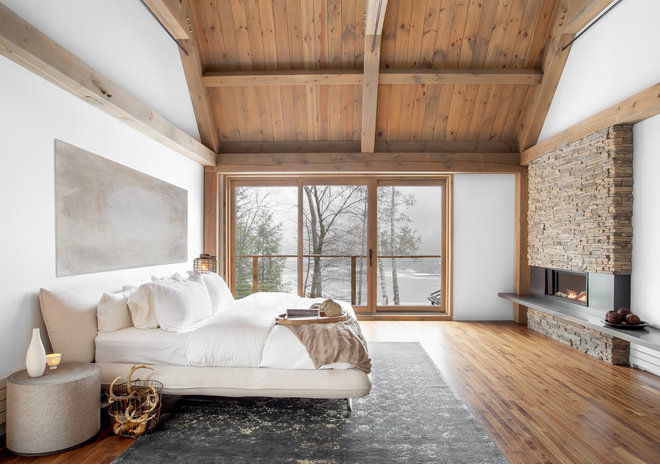 Contemporary Bedroom by catlin stothers design