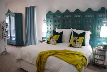 eclectic bedroom Sacha & Johan's High Risk / High Reward Home House Call | Apartment Therapy New