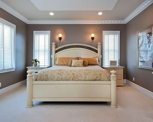 Angled tray ceiling houzz Master bedroom romantic paint colors