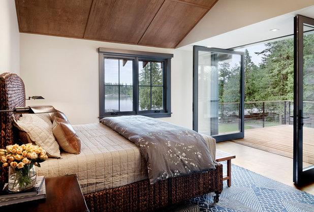Rustic Bedroom by NB Design Group, Inc