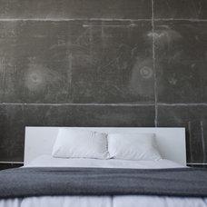 Industrial Bedroom by Cush Design Studio