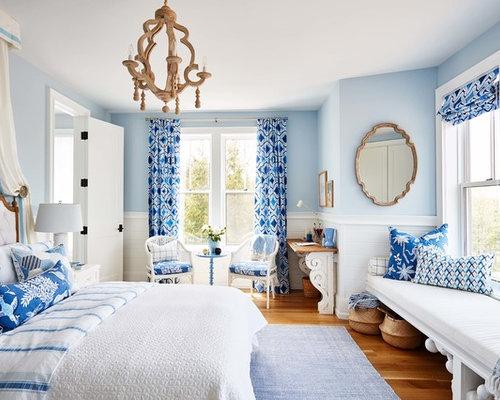 Camera da letto con pareti blu Toronto - Foto e Idee per Arredare