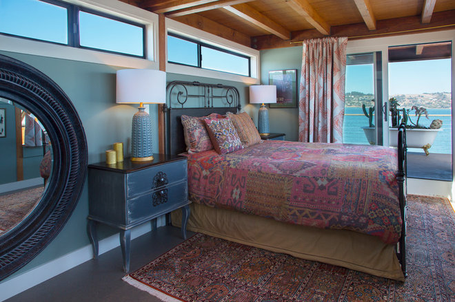 Eclectic Bedroom by LOCZIdesign